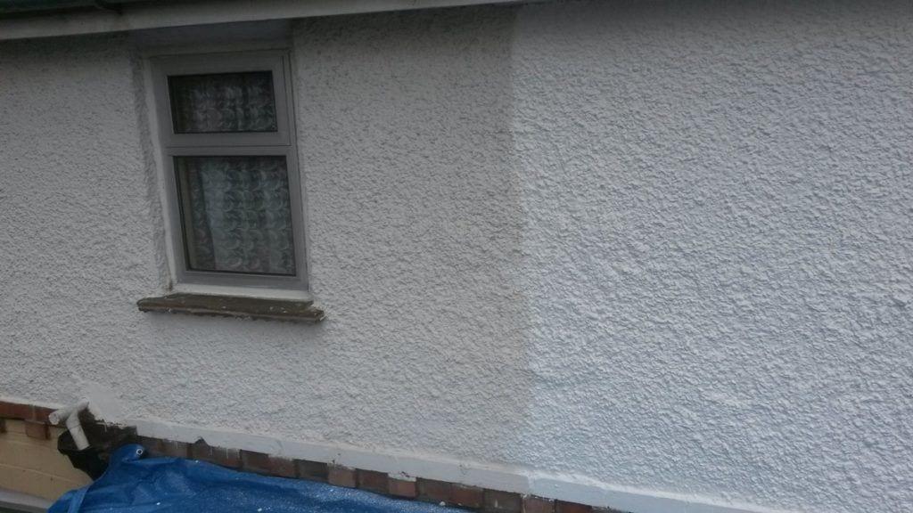 masonry paint to exterior wall