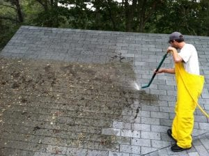 power cleaning roof