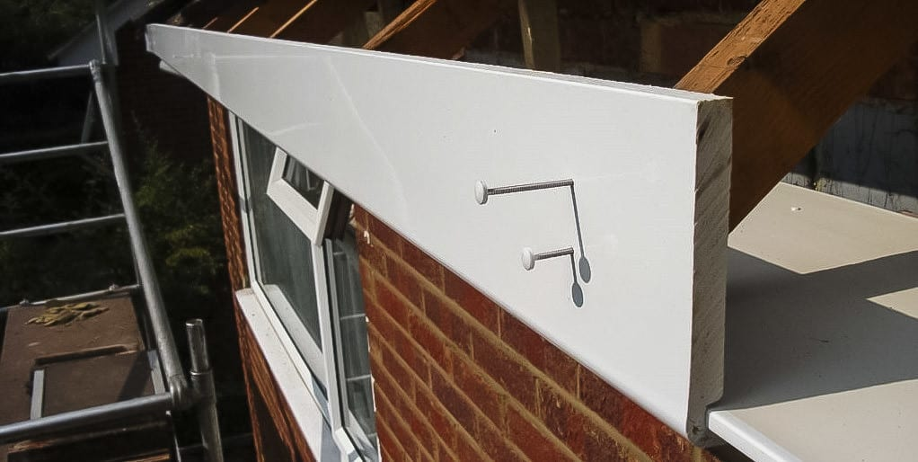 Upvc fascia boards to roof