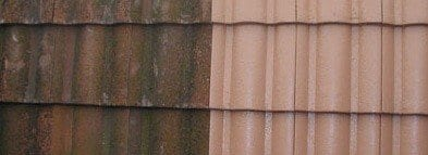 Roof paint onto tiles