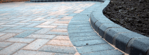 Block paving and raised edges