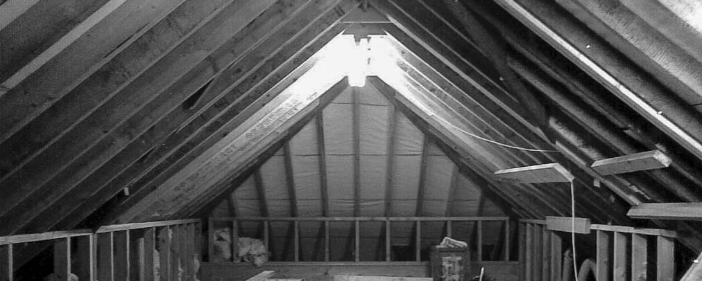 Loft Black And White Image