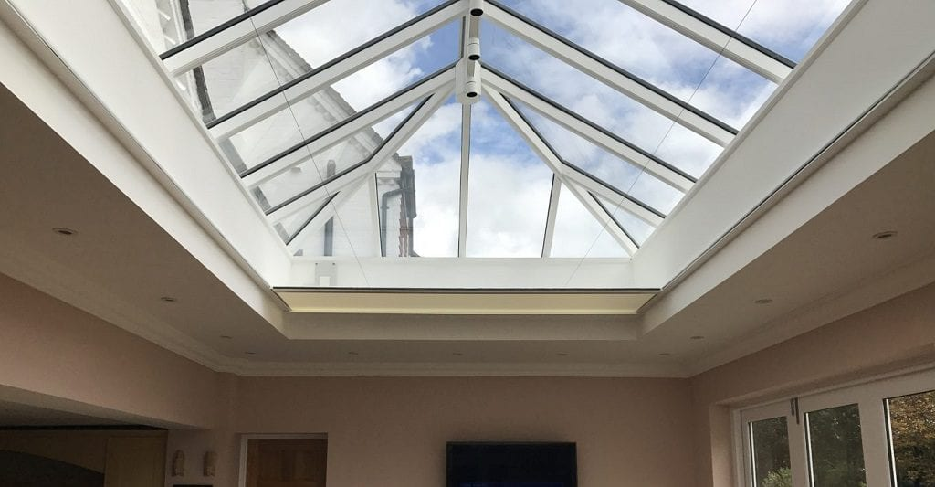 Orangery roof with lantern design