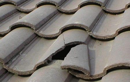 One broken roof tile
