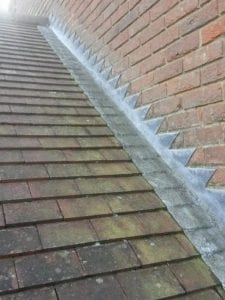 Lead flashing to roof
