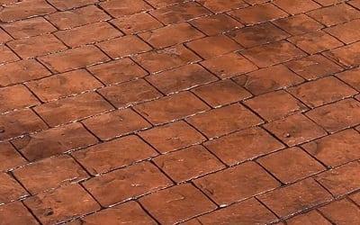 Bronze concrete driveway