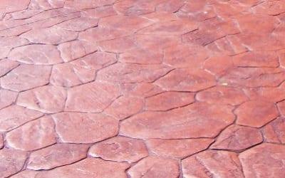 Red concrete driveway