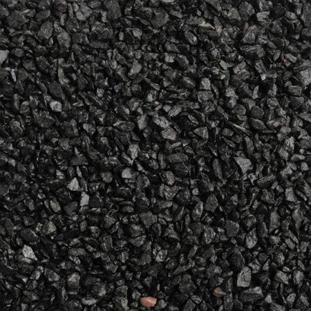 Black resin gravel