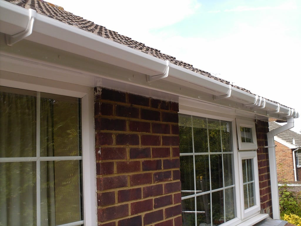 White Upvc roofline boards and guttering