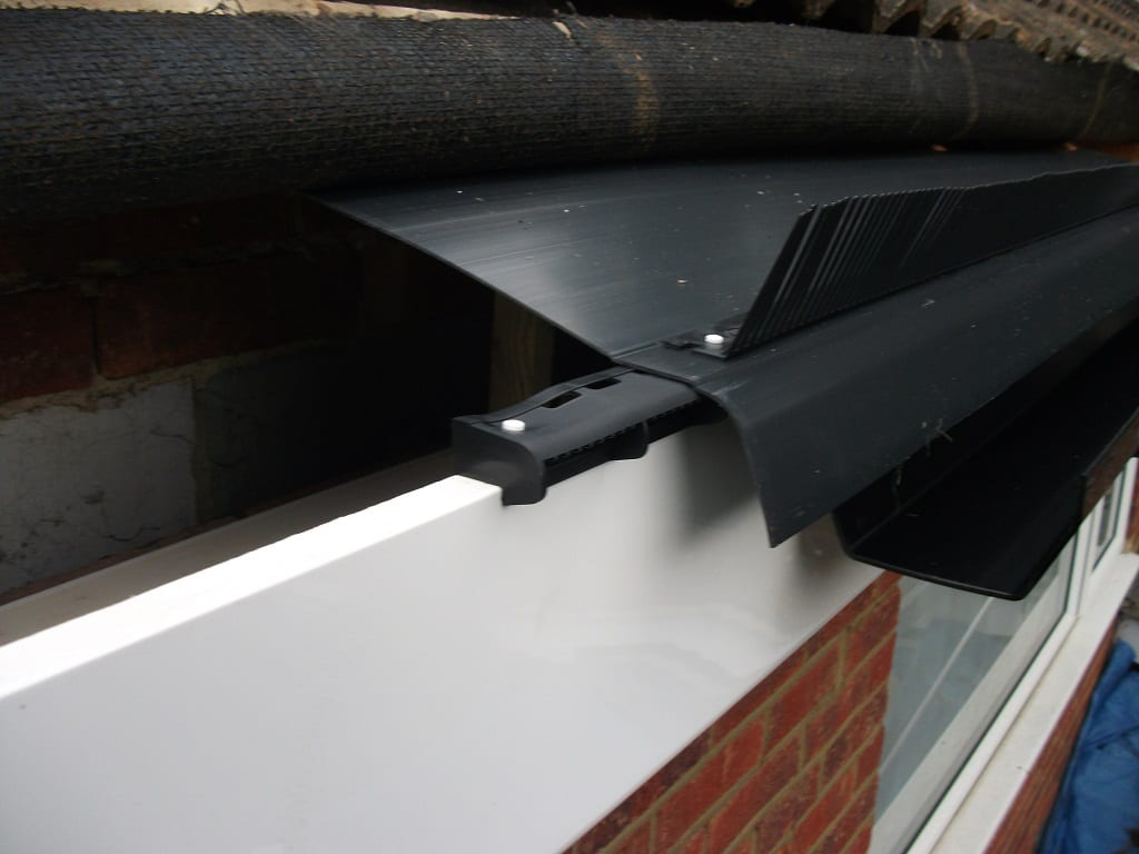 Roof eaves felt, ventilation and bird stopper