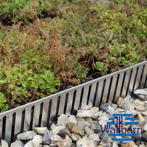Green roof edging