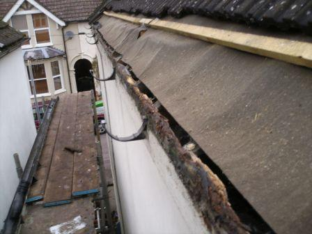 Rotten eaves timbers