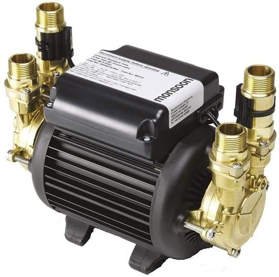 Shower booster pump