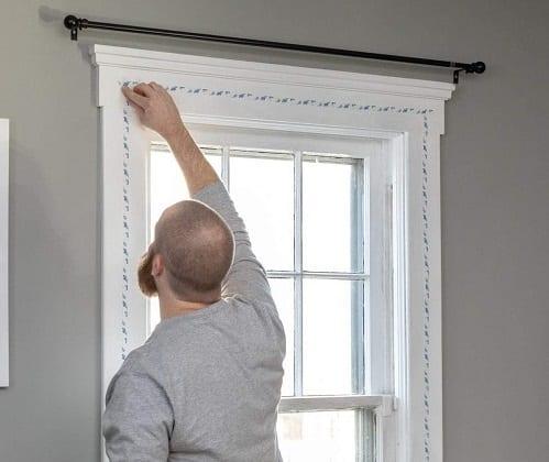 Window shrink film secondary glazing