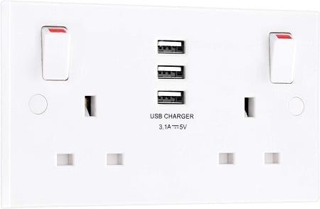 USB enabled plug sockets