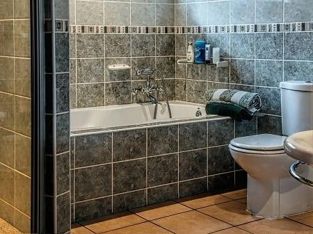 Bathroom with tiles