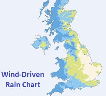 Wind and rain chart UK